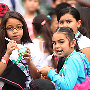 March 1, 2014, Palm Springs, California: <br /> Kids eat ice cream during Kids Day at the Indian Wells Tennis Garden sponsored by the Coachella Valley National Junior Tennis and Learning Network.<br /> (Photo by Billie Weiss/BNP Paribas Open)