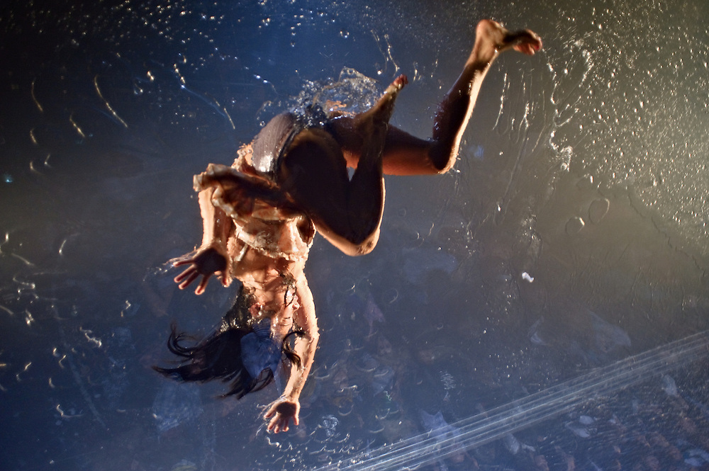 """Scene from """"Fuerza Bruta"""" at the Daryl Roth Theatre, New York, New York"""