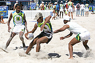 Camps Bay, Caught from behind during the Oasis SKW Camps Bay Beach Touch Rugby Tournament held on the 2 February 2008, Cape Town, South Africa...Image © Sportzpics