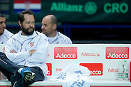 Zeljko Krajan - captain national team on the bench during the BNP Paribas Davis Cup 2014 between Poland and Croatia at Torwar Hall in Warsaw on April 6, 2014.<br /> <br /> Poland, Warsaw, April 6, 2014<br /> <br /> Picture also available in RAW (NEF) or TIFF format on special request.<br /> <br /> For editorial use only. Any commercial or promotional use requires permission.<br /> <br /> Mandatory credit:<br /> Photo by © Adam Nurkiewicz / Mediasport