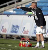 Fotball<br /> Tippeligaen Eliteserien<br /> 05.06.08<br /> Ullevaal Stadion<br /> Vålerenga VIF - Ham-Kam Ham Kam HamKam<br /> Trener Arne Erlandsen roper ut<br /> Foto - Kasper Wikestad