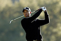 14 December 2007: Pro PGA golfer Tiger Woods on the 18th fairway during the ninth annual Target World Challenge golf tournament presented by the Tiger Woods Foundation at Sherwood Country Club in Thousand Oaks Westlake Village in Southern California.