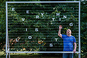 Tim Etchells (pictured), Everything is Lost, 2018, The Vitrine Gallery - Frieze Sculpture, one of the largest outdoor exhibitions in London, including work by 25 international artists from across five continents in Regent's Park from 4th July - 7th October 2018.