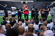 NFL players attend todays NFL Flag National Championship Finals during the NFL UK Media Day at Tottenham Hotspur Stadium, London, United Kingdom on 3 July 2019.