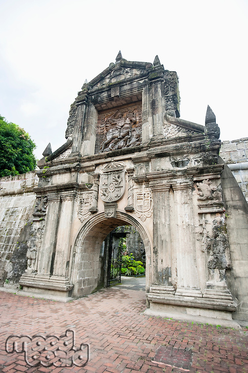 Entrance to Fort Santiago in the Intramuros; Manila; Philippines