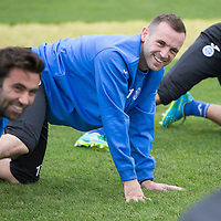 St Johnstone Training....03.10l14<br /> James McFadden pictured in training this morning alongside team mate and former St Mirren player Simon Lappin.<br /> Picture by Graeme Hart.<br /> Copyright Perthshire Picture Agency<br /> Tel: 01738 623350  Mobile: 07990 594431
