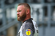 Wayne Rooney of Derby County during the EFL Sky Bet Championship match between Derby County and Brentford at the Pride Park, Derby, England on 11 July 2020.