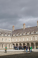 The courtyard of The Irish Museum of Modern Art Royal Hospital Kilmainham in Dublin Ireland