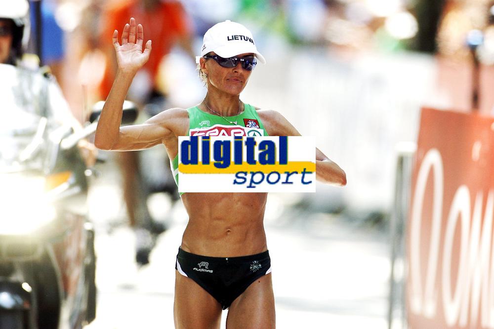 Friidrett, 31. juli  2010 ,<br /> EM Barcelona<br /> <br /> European Athletics Championships<br /> Barcelona<br /> <br /> <br /> maraton , winner ,  Zivile Balciunaite , LTU <br /> <br /> Foto: Anders Hoven , Digitalsport