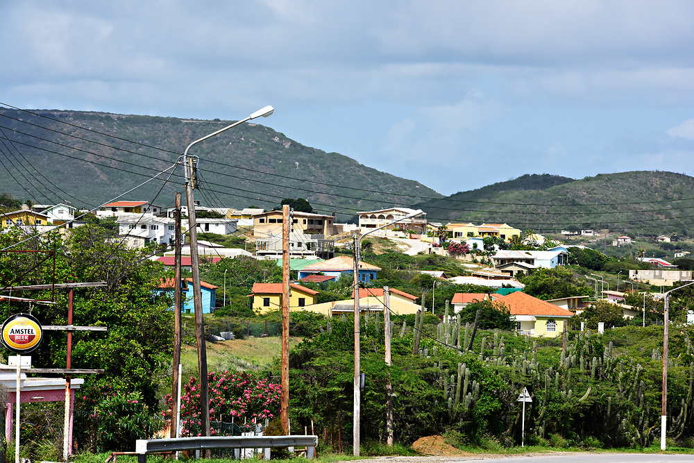 WILLEMSTAD, CURACAO - DECEMBER 12, 2014:  Colorful homes dot the Curacao landscape. (photo by Melissa Lyttle)