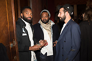 TAVARES STRACHAN, CHRISTOPHE THOMPSON, JOSEPH FORNRNILT, May You Party in Interesting Times, Ralph Rugoff hosts a party for the artists with the Store X , Vinyl Factory and Laylow, Palazzo Benzon, Venice. 7 May 2019