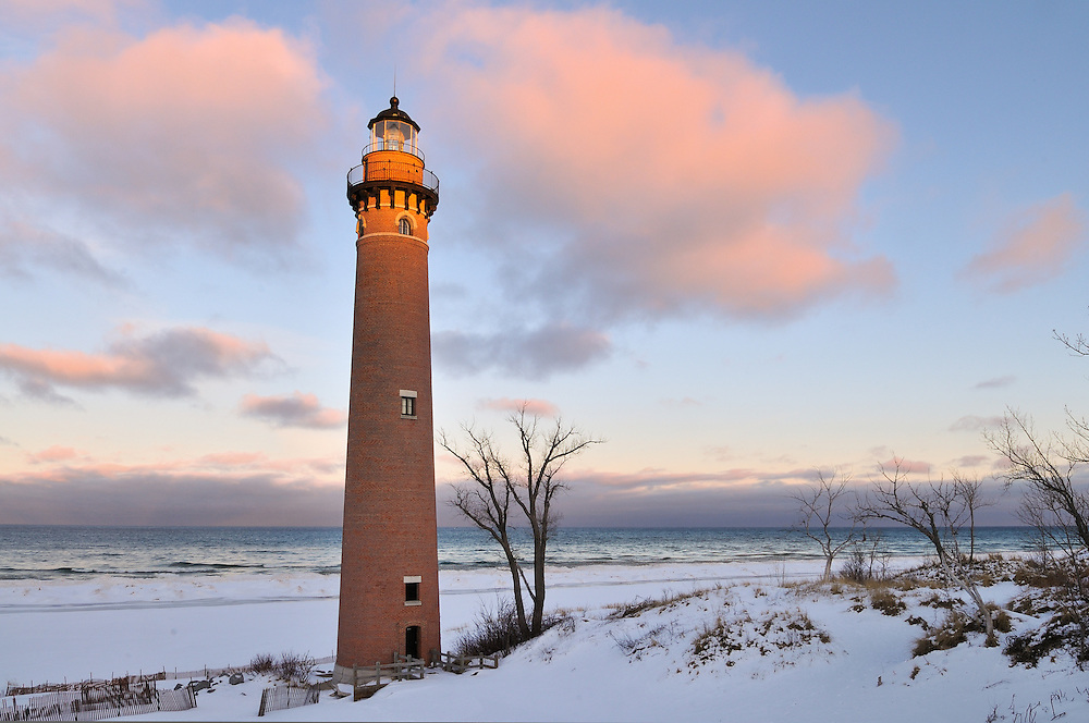 Sunrise at Little Point Sable<br /> Mears, Michigan