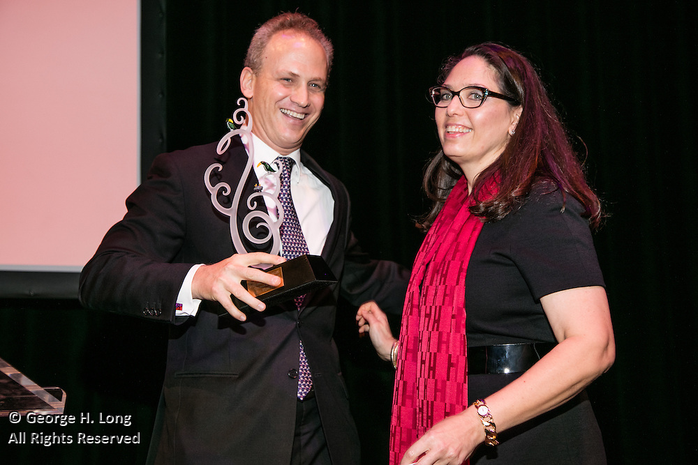 Carlos Miguel Prieto receives his award at the Arts Council New Orleans Community Arts Awards Celebration at the Civic Theatre December 2, 2015