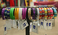 Bracelets on display for sale at Miracle Boutique in Lindale Mall in Cedar Rapids on Saturday, December 14, 2013.