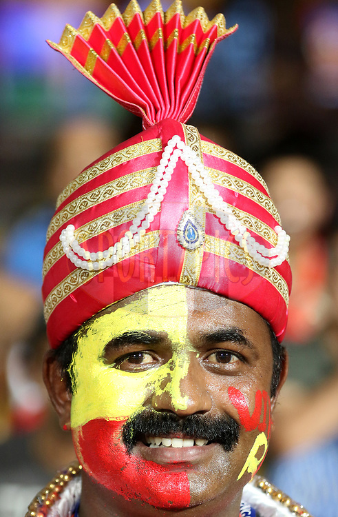 Royal Challengers Bangalore supporter in a traditional attire during match 5 of the Vivo 2017 Indian Premier League between the Royal Challengers Bangalore and the Delhi Daredevils held at the M.Chinnaswamy Stadium in Bangalore, India on the 8th April 2017<br /> <br /> Photo by Faheem Hussain - IPL - Sportzpics