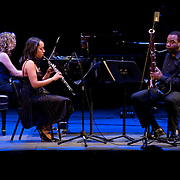May 14, 2011 - Manhattan, NY : .The Poulenc Trio performs the New York premiere of Enrique Gonzalez-Medina's 'Suite Latina' during Symphony Space's Wall to Wall Sonidos concert on Saturday night. .CREDIT: Karsten Moran for The New York Times