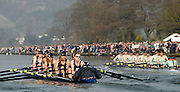 Henley, GREAT BRITAIN, 2011 Henley Boat Races, Temple Island, Henley Reach, River Thames, England  Sunday  27/03/2011.  OUWLRC, racing down the Henley reach, chasing CUWBC, in the Lightweight Women's Boat Race. [Mandatory Credit, Karon Phillips /Intersport-images]