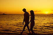 Couple on Beach, Kaanapali, Maui, Hawaii