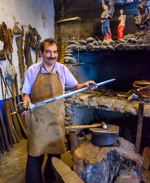Apolinar Aguilar, sword maker to Conan the Barbarian and the last remaining sword and knife maker or Cuchilleria - Ocotlan, Mexico