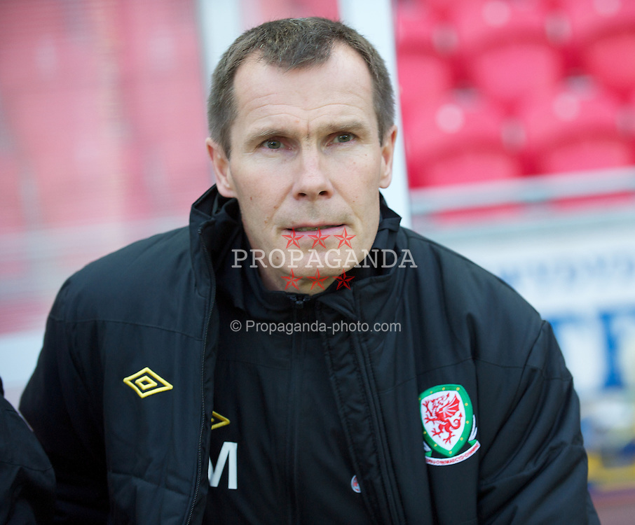 LLANELLI, WALES - Saturday, October 22, 2011: Wales' Coach Jarmo Matikainen before the UEFA Women's EURO 2013 Qualifying Group 4 match against France at Parc Y Scarlets. (Pic by Gareth Davies/Propaganda)