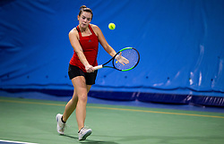 Anja Gal in action during Slovenian National Tennis Championship 2019, on December 21, 2019 in Medvode, Slovenia. Photo by Vid Ponikvar/ Sportida
