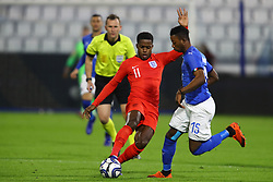 RYAN SESSEGNON (ENGLAND)     VS CLAUD ADJAPONG (ITALY)<br /> Football friendly match Italy vs England u21<br /> Ferrara Italy November 15, 2018<br /> Photo by Filippo Rubin