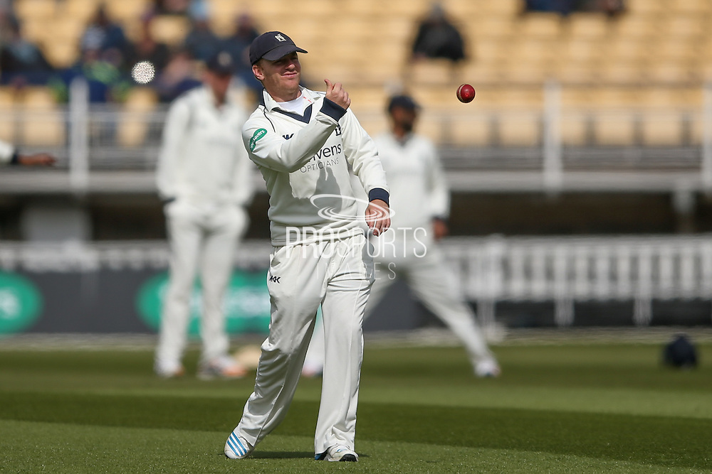 Warwickshire Ian Westwood  during the Specsavers County Champ Div 1 match between Warwickshire County Cricket Club and Yorkshire County Cricket Club at Edgbaston, Birmingham, United Kingdom on 24 April 2016. Photo by Simon Davies.