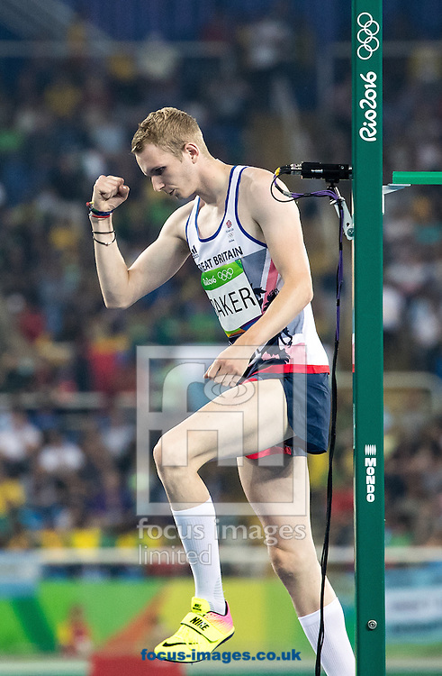 Chris Baker of Great Britain during the Men's High Jump Qualifying Round on day nine of the XXXI 2016 Olympic Summer Games in Rio de Janeiro, Brazil.<br /> Picture by EXPA Pictures/Focus Images Ltd 07814482222<br /> 14/08/2016<br /> *** UK &amp; IRELAND ONLY ***<br /> <br /> EXPA-GRO-160815-5372.jpg