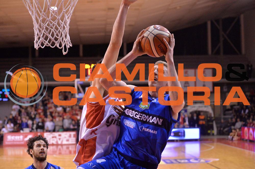 Sport basket serie a reggio emilia - germani brescia<br /> Berggren Jared<br /> Legabasket serieA 2016/2017<br /> Reggio Emiliai 27/03/2017<br /> Foto Ciamillo-Castoria