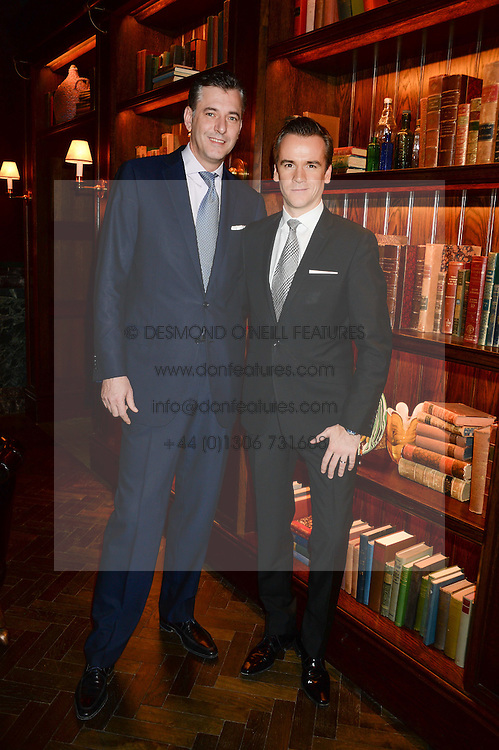 Left to right, MATTHIAS ROEKE and MICHAEL BONSOR at the launch of Rosewood London - a new luxury hotel at 252 High Holborn, London WC1 on 30th October 2013.