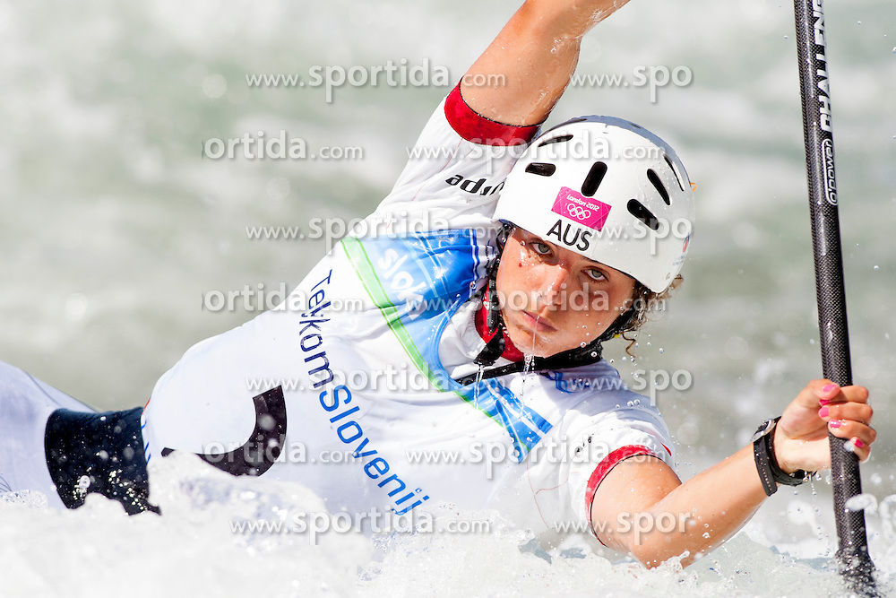 Jessica Fox of Australia during Canoe(C1) Women semi-final race at ICF Canoe Slalom World Cup Sloka 2013, on August 17, 2013, in Tacen, Ljubljana, Slovenia. (Photo by Urban Urbanc / Sportida.com)