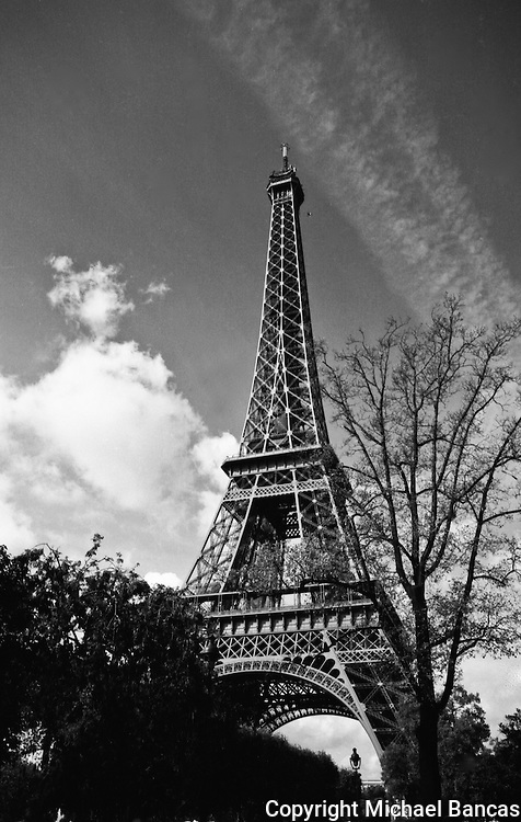 Eiffel Tower - Le Tour Eiffel<br /> on a sunny fall afternoon in Paris France