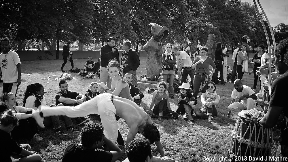 Capoeria Performance in Parc de Bercy. Late Spring Photowalk in Paris. Image taken with a Leica X2 camera (ISO 100, 24 mm, f/5, 1/200 sec). Semester at Sea Spring 2013 Enrichment Voyage.