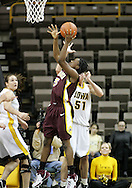 25 JANUARY 2007: Minnesota guard Korinne Campbell (5) shoots in Iowa's 80-78 overtime loss to Minnesota at Carver-Hawkeye Arena in Iowa City, Iowa on January 25, 2007.