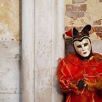 VENICE, ITALY - MARCH 02:  Carnival costumes and masks pose near St Mark's Square  in Venice, Italy. The Venice Carnival, one of the largest and most important in Italy, attracts thousands of people from around the world each year. The theme for this year's carnival is 'Ottocento', a nineteenth century evocation, and will run from February 19 till March 8...HOW TO BUY THIS PICTURE: please contact us via e-mail at sales@xianpix.com or call our offices in Milan at (+39) 02 400 47313 or London   +44 (0)207 1939846 for prices and terms of copyright..