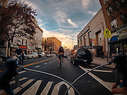 New York City from the seat of a bicycle: Photographer takes stunning photos of the Big Apple on his daily commute<br /><br />A graphic designer has taken a series of stunning pictures that show a side of New York City that not everyone gets to see - he takes fast-moving shots of day-to-day life from the seat of his bicycle.<br />Tim Sklyarov has dazzled his audience with other photo series of New York living, but his collection of shots from the seat of his bicycle offer a unique perspective of the City that Never Sleeps. <br />Sklyarov is a creative director at a hospitality marketing company called HeBS Digital. But he's also a photography enthusiast who has turned his blog into his 'personal playground' for his interesting photography projects.<br />The photographer describes New York City as 'the capital of planet Awesome,' and it certainly seems to serve as his muse for much of his artwork.<br />His series 'NYC Through the Eyes of a Road Bicycle' is a glimpse of the Big Apple that Sklyarov sees every day on his way to work - he essentially has documented his commute from the seat of his bicycle. <br />But his unique look at what is commonplace for millions of New Yorkers resulted in a stunning collection of photographs.<br />©Tim Sklyarov/Exclusivepix