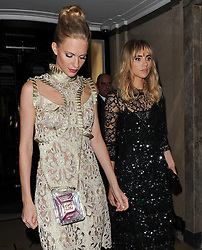 Model Suki Waterhouse and Poppy Delevingne leaving the Claridges hotel in Mayfair, London, UK. 15/09/2014<br />