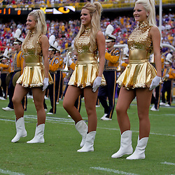 19 September 2009:  LSU Tigers Golden Girls dancers perform on the field before the start of a 31-3 win by the LSU Tigers over the University of Louisiana-Lafayette Ragin Cajuns at Tiger Stadium in Baton Rouge, Louisiana.