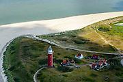 Nederland, Noord-Holland, Texel, 05-08-2014; vuurtoren bij De Cocksdorp, zicht op de Waddenzee tussen Texel en Vlieland, het Robbengat en Vogelzwin. Op het tweede plan droogvallende platen.<br /> Lighthouse overlooking the Wadden Sea between Texel and Vlieland with tidal flats.<br /> luchtfoto (toeslag op standard tarieven);<br /> aerial photo (additional fee required);<br /> copyright foto/photo Siebe Swart