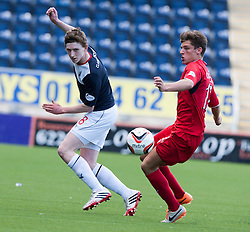Falkirk's Blair Alston and Raith Rovers Ross Callachan.<br /> Falkirk 2 v 1 Raith Rovers, Scottish Championship game played today at The Falkirk Stadium.<br /> © Michael Schofield.