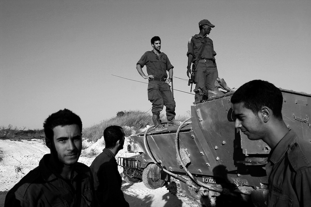 Soldiers prepare for another cross border operation into Lebanon. Aug 2006