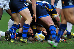 Chris Pennell of Worcester Warriors presents the ball - Mandatory byline: Patrick Khachfe/JMP - 07966 386802 - 13/02/2016 - RUGBY UNION - Sixways Stadium - Worcester, England - Worcester Warriors v Bath Rugby - Aviva Premiership.