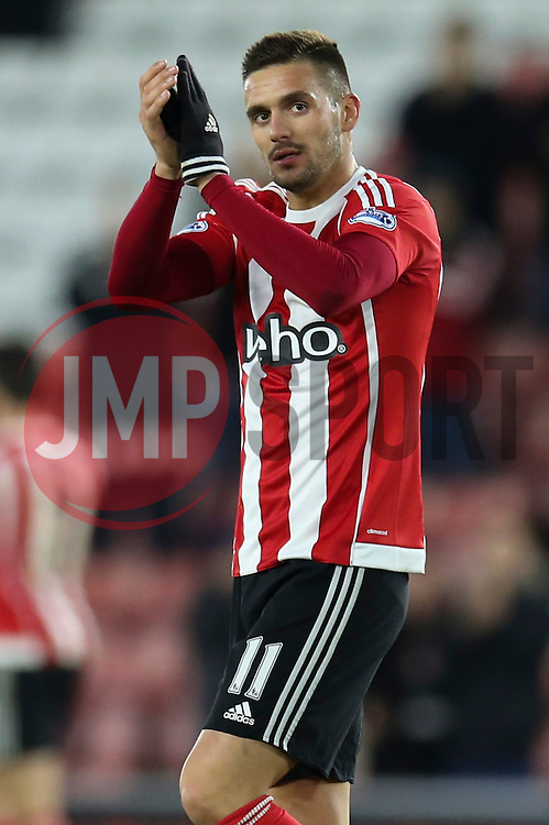 Dusan Tadic of Southampton applauds the fans following their 3-0 win over West Bromwich Albion - Mandatory by-line: Jason Brown/JMP - 07966386802 - 16/01/2016 - FOOTBALL - Southampton, St Mary's Stadium - Southampton v West Bromwich Albion - Barclays Premier League