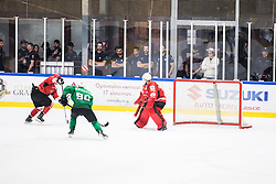 KUJAVEC Anej vs KOGOVSEK Ziga during the match between HDD Jesenice vs HK SZ Olimpia at 16th International Summer Hockey League Bled 2019 on 24th August 2019. Photo by Peter Podobnik / Sportida