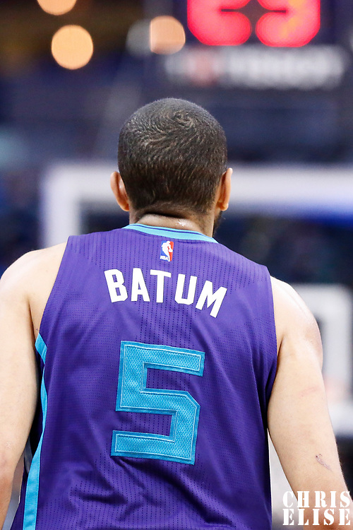 04 March 2017: Charlotte Hornets guard Nicolas Batum (5) is seen during the Charlotte Hornets 112-102 victory over the Denver Nuggets, at the Pepsi Center, Denver, Colorado, USA.