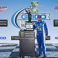 May 07, 2017 - Talladega, Alabama, USA: Ricky Stenhouse Jr. (17) takes photos after winning the GEICO 500 at Talladega Superspeedway in Talladega, Alabama.