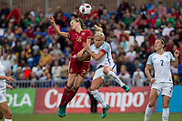 Spain's Irene Paredes England's Steph Houghton during the frendly match between woman teams of  Spain and England at Fernando Escartin Stadium in Guadalajara, Spain. October 25, 2016. (ALTERPHOTOS/Rodrigo Jimenez)