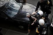 Targeted arrest of demonstrator during Quebec Spring / Printemps Érable. F1 weekend 2012.