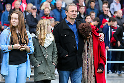 Gerry's family line up for a minutes silence in memory of Bristol City legend Gerry Gow who recently passed away - Rogan Thomson/JMP - 22/10/2016 - FOOTBALL - Ashton Gate Stadium - Bristol, England - Bristol City v Blackburn Rovers - Sky Bet EFL Championship.