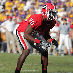 25 October 2008:  Georgia wide receiver Marquise Brown (20) in action during the Georgia Bulldogs 52-38 victory over the LSU Tigers at Tiger Stadium in Baton Rouge, LA.